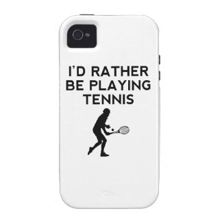 I'd Rather Be Playing Tennis Vibe iPhone 4 Cover