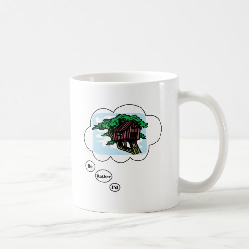 I'd rather be playing Tree House Classic White Coffee Mug