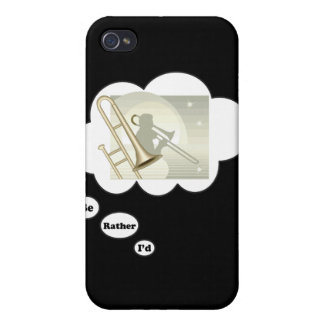 i'd rather be playing Trombone 3 iPhone 4 Cover