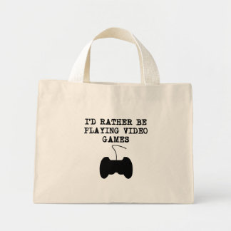 I'd Rather Be Playing Video Games Canvas Bags