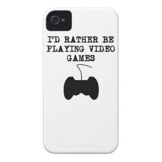 I'd Rather Be Playing Video Games iPhone 4 Case-Mate Case