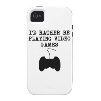I'd Rather Be Playing Video Games Case-Mate iPhone 4 Cases