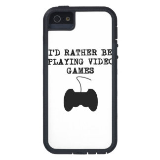 I'd Rather Be Playing Video Games iPhone 5 Case