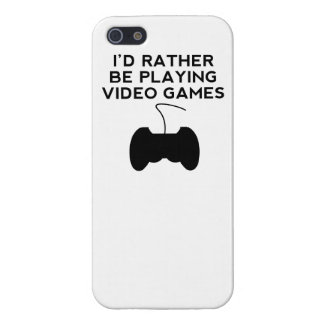 I'd Rather Be Playing Video Games iPhone 5/5S Case