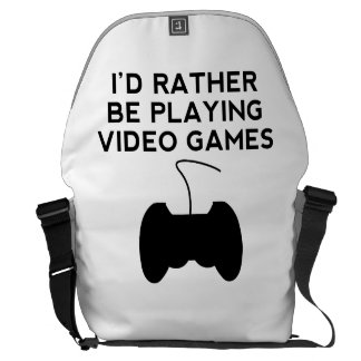 I'd Rather Be Playing Video Games Courier Bag