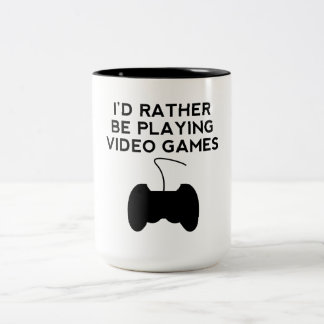 I'd Rather Be Playing Video Games Coffee Mugs