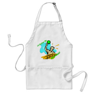 I'd Rather Be Playing Volleyball Adult Apron