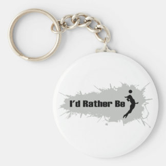 I'd Rather Be Playing Volleyball (Female) Keychain