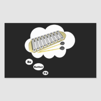 i'd rather be playing Xylophone Rectangular Sticker