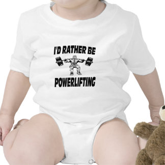 I'd Rather Be Powerlifting Weightlifting Tees