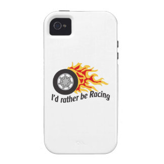 ID RATHER BE RACING VIBE iPhone 4 COVER