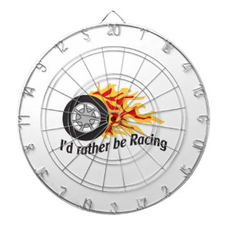 ID RATHER BE RACING DARTBOARDS