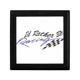 Id Rather Be Racing Jewelry Box