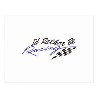 Id Rather Be Racing Postcard