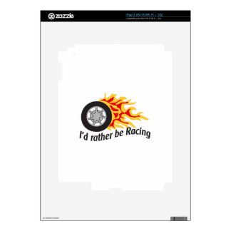 ID RATHER BE RACING DECALS FOR iPad 2
