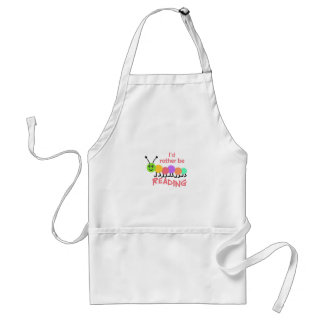 ID RATHER BE READING APRONS