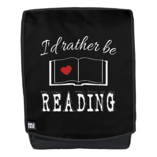 I'd rather be reading backpack