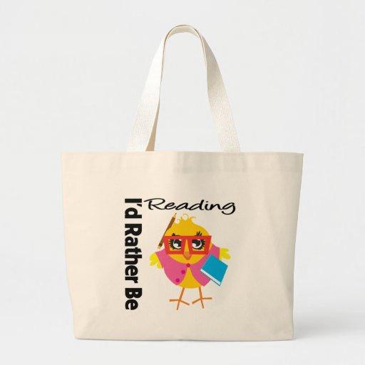 I'd Rather Be Reading Bag