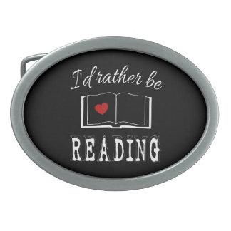 I'd rather be reading belt buckle