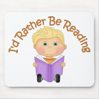 I'd Rather Be Reading Customizable Little Boy Gift Mouse Pads