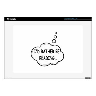 """I'd Rather Be Reading Decal For 15"""" Laptop"""