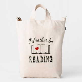 I'd rather be reading duck bag
