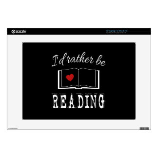 I'd rather be reading laptop skins
