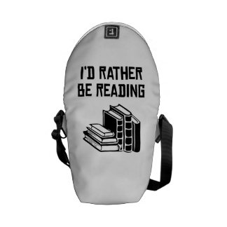 I'd Rather Be Reading Courier Bags