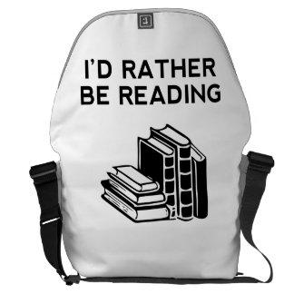 I'd Rather Be Reading Messenger Bag