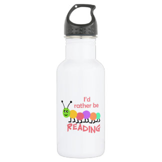 ID RATHER BE READING 18OZ WATER BOTTLE