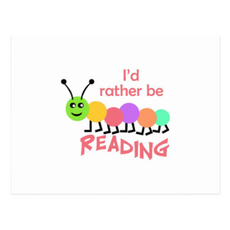 ID RATHER BE READING POSTCARD