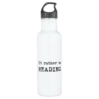 I'd Rather Be Reading Stainless Steel Water Bottle