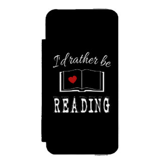 I'd rather be reading wallet case for iPhone SE/5/5s