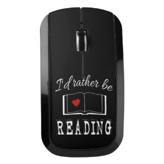 I'd rather be reading wireless mouse