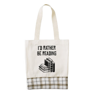 I'd Rather Be Reading Zazzle HEART Tote Bag