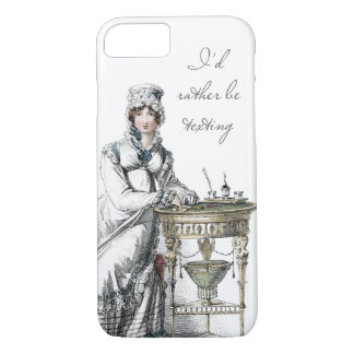 I'd Rather be Regency Fashion Plate iPhone 8/7 Case