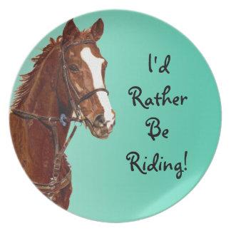 I'd Rather Be Riding Aqua Plate