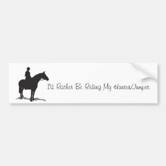 I'd Rather Be Riding Bumper Sticker(Hunter/Jumper) Bumper Sticker