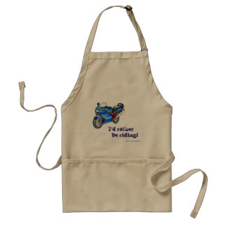 I'd rather be riding Dad motorbike for father Adult Apron