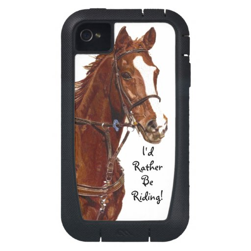 I'd Rather Be Riding! Horse iPhone 4 Case