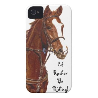 I'd Rather Be Riding! Horse iPhone 4 Case-Mate Cas casemate_case