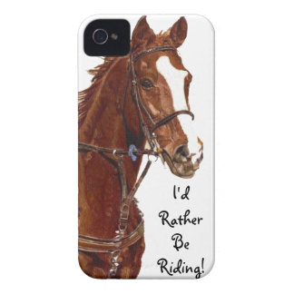 I'd Rather Be Riding! Horse iPhone 4 Case-Mate Cas iPhone 4 Case-Mate Case