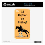 I'd Rather Be Riding! Horse iPhone 4S Skin