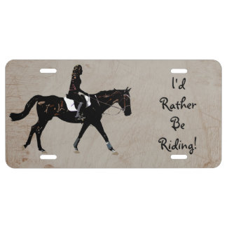 I'd Rather Be Riding Horse License Plate
