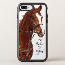 I'd Rather Be Riding! Horse OtterBox Symmetry iPhone 8 Plus/7 Plus Case