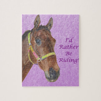 I'd Rather Be Riding! Horse Puzzle