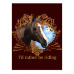 I'd Rather Be Riding Horses Postcard