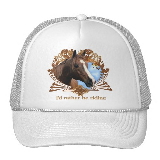 I'd Rather Be Riding Horses Trucker Hat