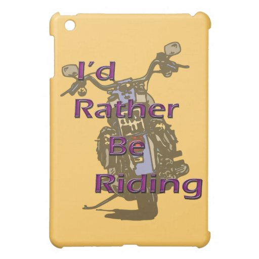 I'd Rather Be Riding Motorcycle Black Purple iPad Mini Cases