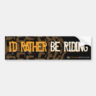 I'd Rather Be Riding - MX Car Bumper Sticker